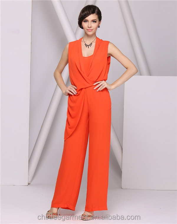 Designer Fashion Orange Jumpsuit Women Jumpsuit - Buy Orange ...