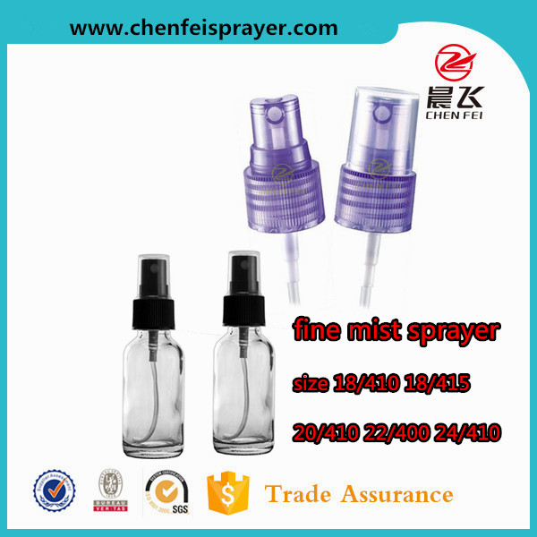 Yuyao professional supplier top quality size 20/410 samples for free plastic screw mist spray pump for perfume liquid