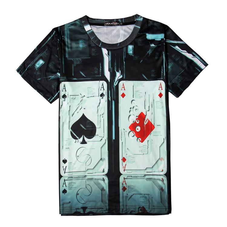 Wholesale customize dry fit all over printing sublimation fancy t-shirt