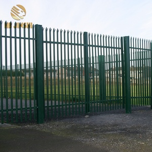Powder Coating Outdoor Security Fence Steel Palisade Fencing