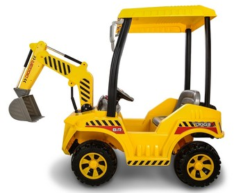 Kids Ride On Truck 12V Battery Powered With Front Loader Digger for Outdoor Use