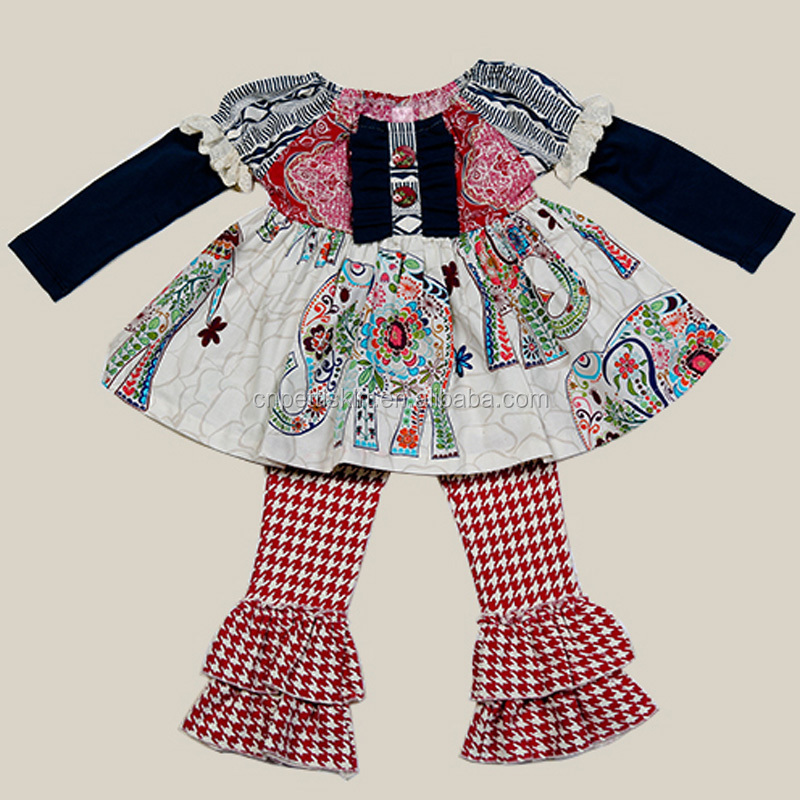 Completely new 2015 Wholesale Children's Boutique Clothing Baby Elephant Print  MM95