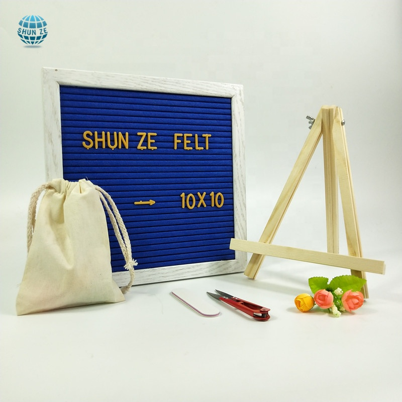 Amazon Hot Selling Eiken Frame Vilt Brief Board Message Board Voor Home Decor