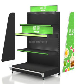 Factory Direct Wholesale Metal Grocery Store Shelf Display Shelf