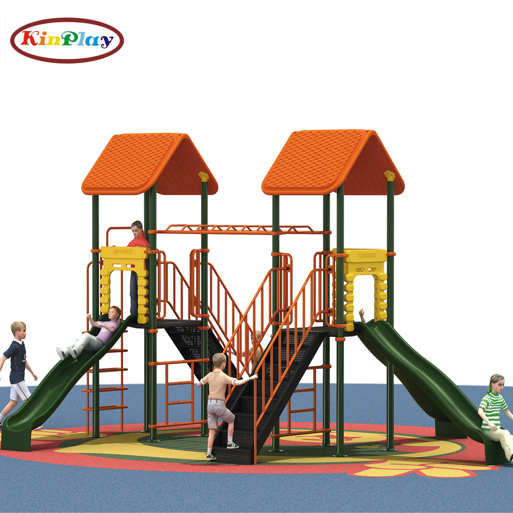 KINPLAY brand Outdoor plastic used commercial kids playground equipment and Children playground slide