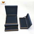 Black paper pen packaging box pen gift box with holder insert