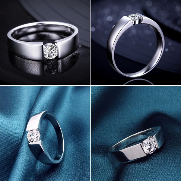 2016 Fashion Men 925 Sterling Silver Jewelry For Wedding Ring