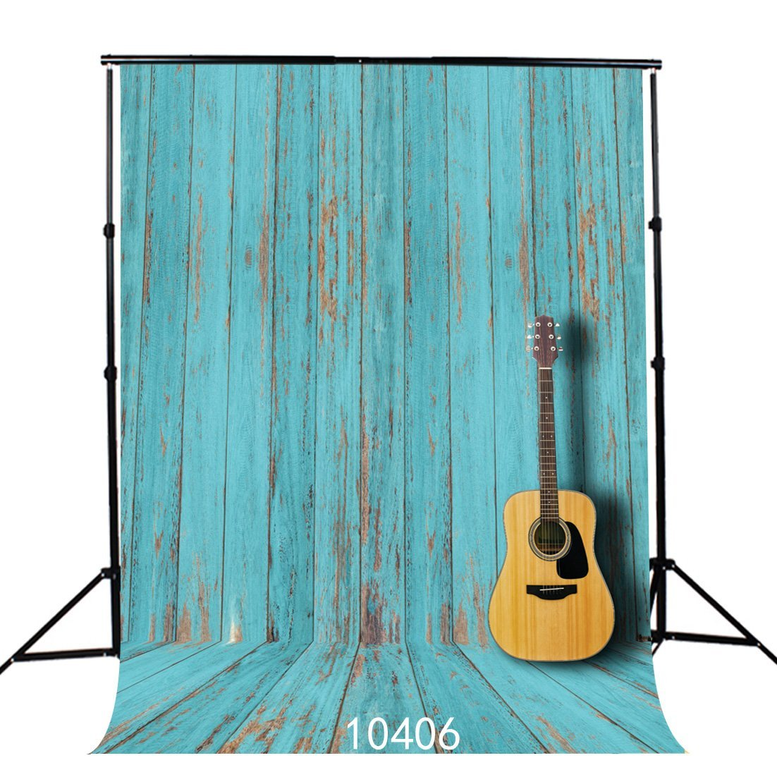 SJOLOON 5X7ft Blue Wood Wall Poly Fabric Photo Backdrops Customized Studio Background Studio Props JLT10406
