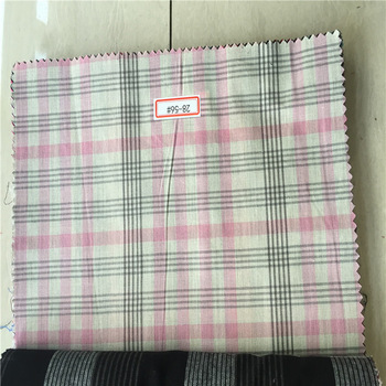 Stock fabric 100% cotton yarn dyed brushed plaid shirt fabric for men's shirts