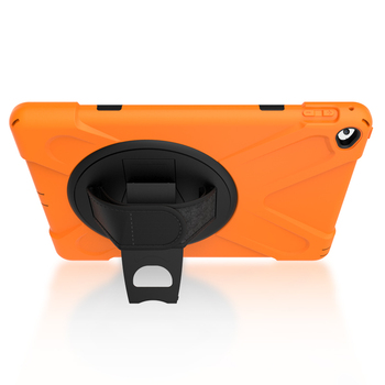 360 Degree Rotatable Kickstand case with hand strap for iPad Air 2 rugged tablet cover
