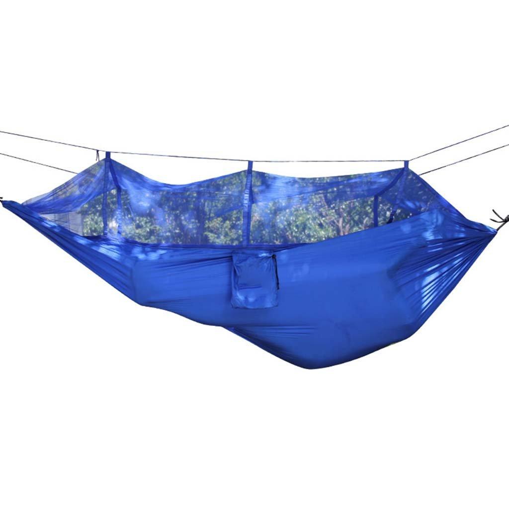 Ren Chang Jia Shi Pin Firm Parachute cloth outdoor hammock with mosquito net tourism hiking camping swing