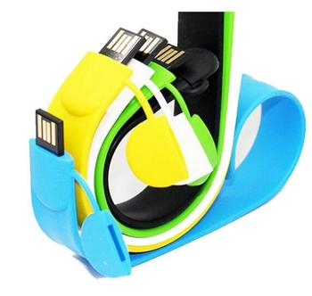 Colorful wrist strap usb flash drive 1-64GB