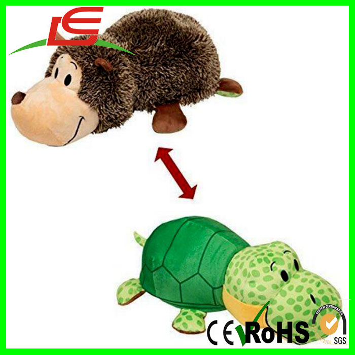 16inch Hedgehog Turtle With 2 Sides of Fun Plush Toy
