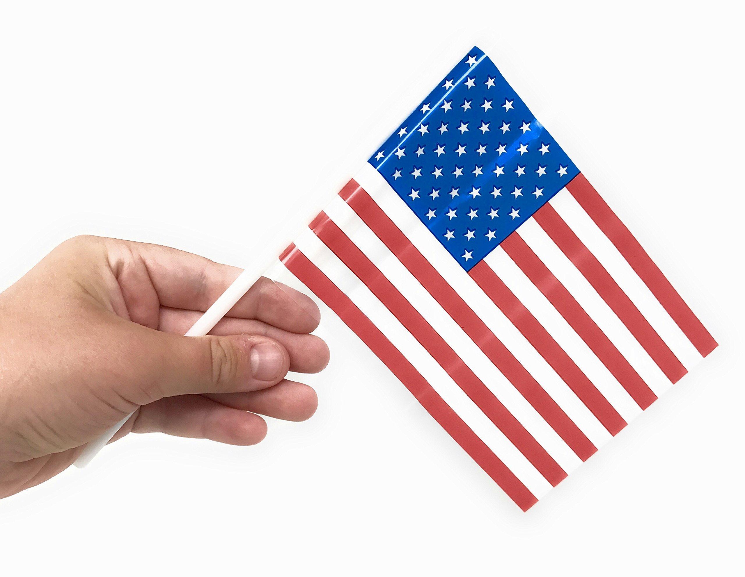 "250  American USA Stick Flags US Made 4X6/"" Bulk Wholesale Hand held small mini"