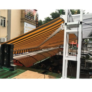 5 Meter Projection Folding Arm Electric Retractable Garden Terrace And Restaurant Awning