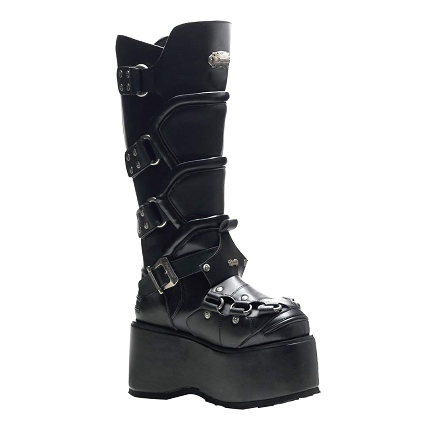 487325c68e8 Get Quotations · Summitfashions 3 1 2 Inch MENS BOOTS Knee High Combat Boots  Wedge Platform Buckles
