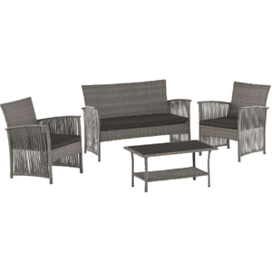 Promotional Cheap Outdoor Rattan 4pcs garden sofa set