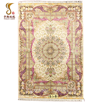 2018 Nanyang Yuxiang 5.5*8ft Central Medallion Arabic Silk Carpet