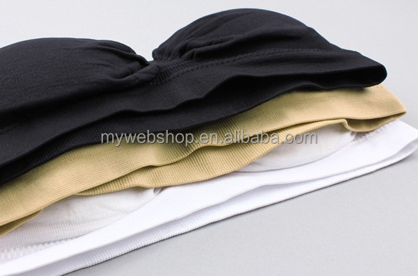 7a710b5280a86 One piece Seamless Bandeau Bra Top with Removable Pads Strapless Bra with Cheap  Price