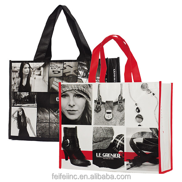 Gift shopping tote bag, laminated Eco non woven Bag