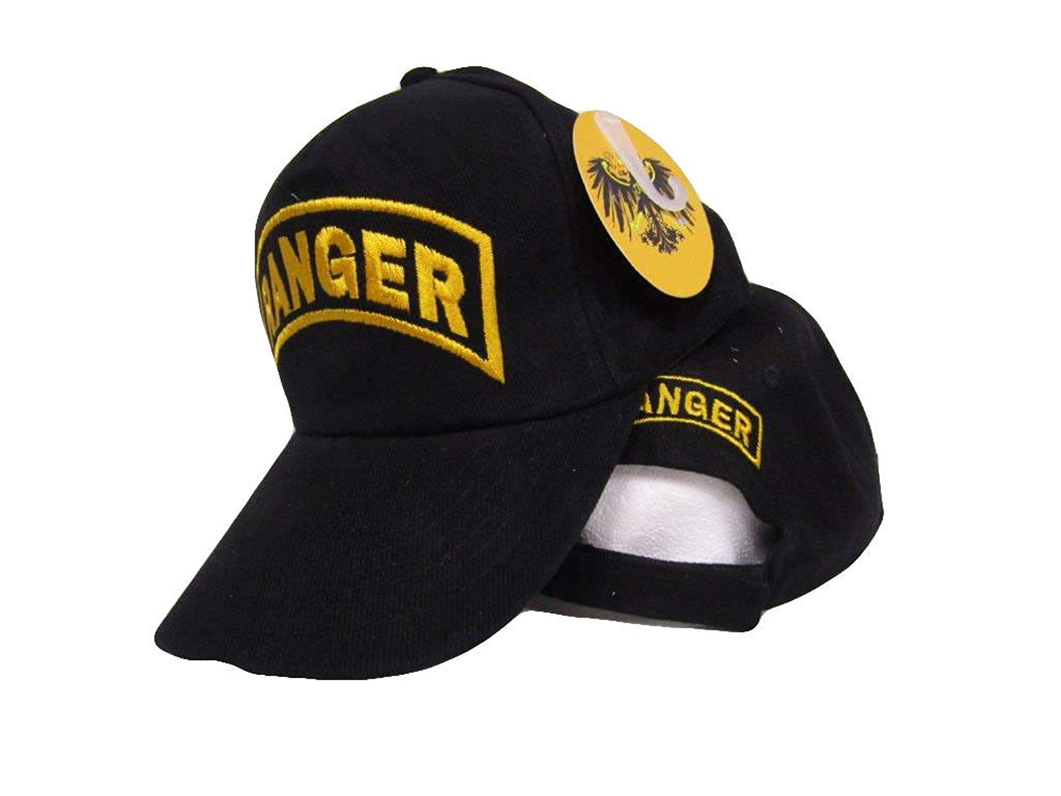d7b830e6e230a Moon Army Ranger Gold Letters Embroidered Black Dad Hat Baseball Cap Cover Premium  Quality Dad Hat