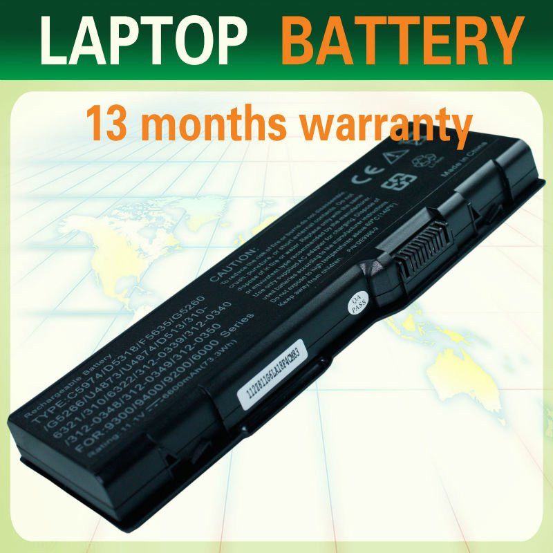 C5974 D5318 F5635 G5260 G5266 U4873 Battery Laptop Battery For Dell Inspiron 6000 9200 Xps M170 Xps M1710 E1705 Series