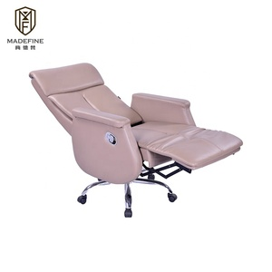 New model office chairs metal bases luxury swivel boss office chair pu leather electric reclining office chair modern