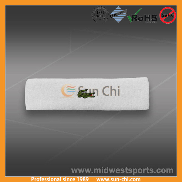 forehead sweat band sweat diverter polyester head band for sports gym