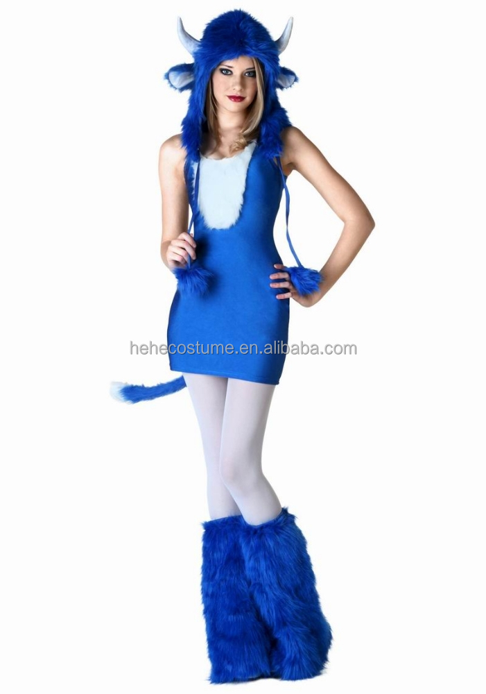 Blue Melody Monster Dress Outfit ,monster party costume ,monster suit