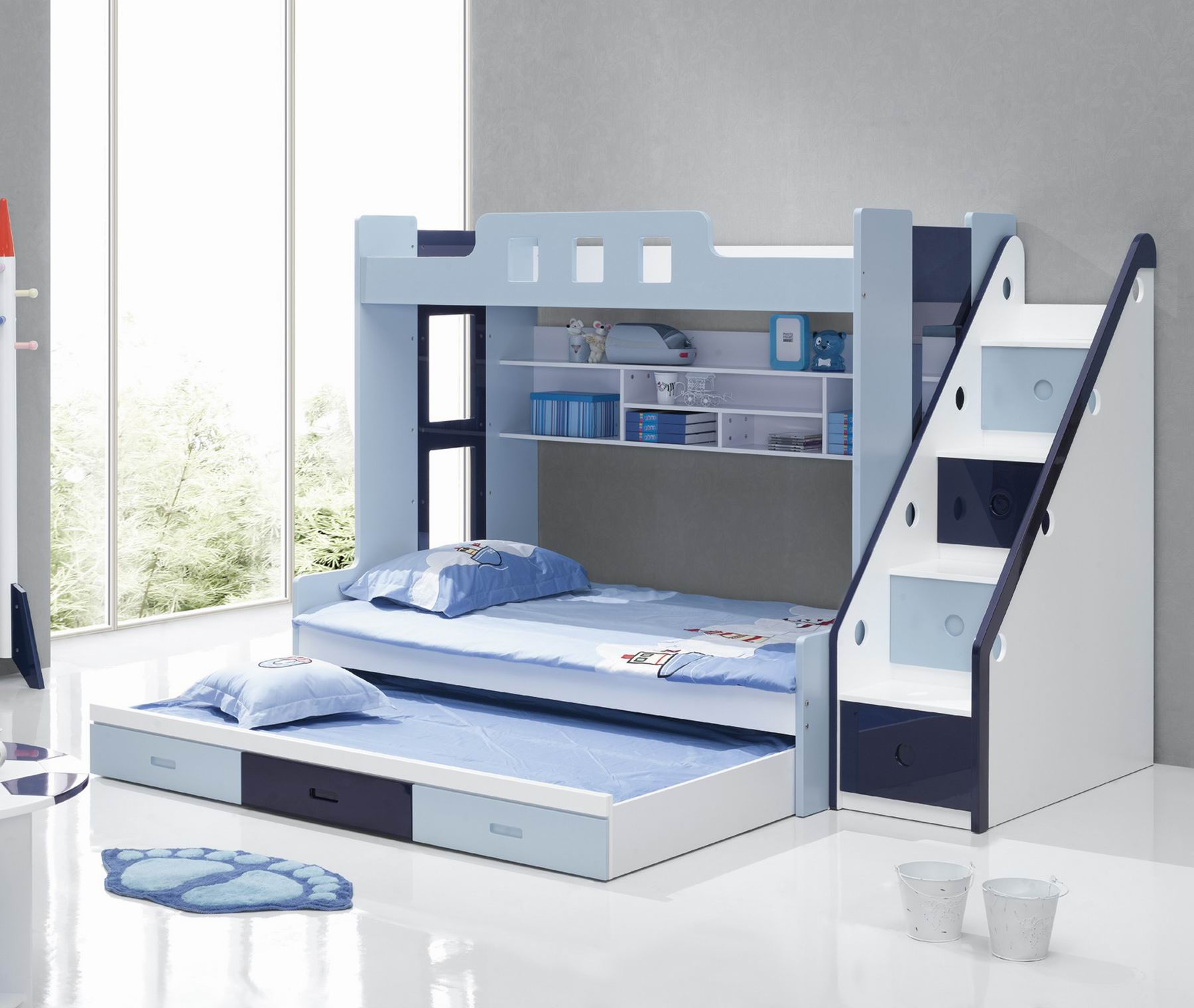Picture of: Cheap Price 3 Tiers Kids Bed Triple Bunk Bed Buy Triple Bunk Beds For Kids Kids Furniture Cheap Bunk Beds 3 Tiers Wood Double Bed Designs For Sleeping Storage Product On Alibaba Com