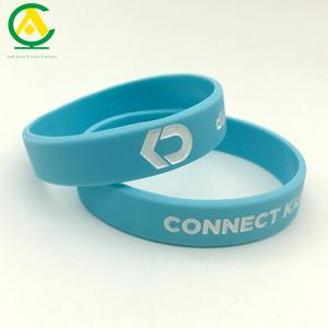 Sedex Factory Debossed color filled sports silicone engraved kids rubber wristbands