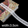 indian cream white narrow net bridal neck lace trims for garment accessories