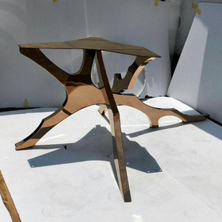Luxury Gold Stainless Steel Legs Dining Table Base For ...