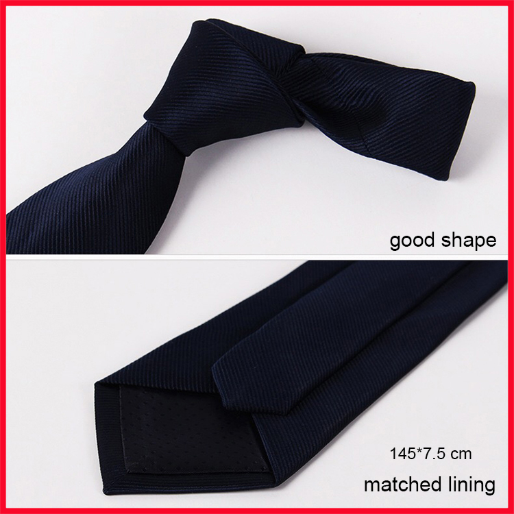 Low MOQ Wholesale Polyester Plain One Color Neck Ties