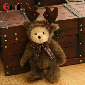 Factory Supply Soft Cute Custom Lovely White Christmas Teddy Bear Plush Toys