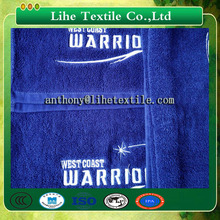 Factory price for Blue sport towel/Red color embroidery towel/Black 100% cotton towels