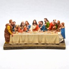 Christian Resin Craft Sculpture The Last Supper Catholic Handcraft Figurine Statue