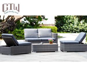 Synthetic Plastic Rattan Corner Sofa Furniture Muebles Da Jardin