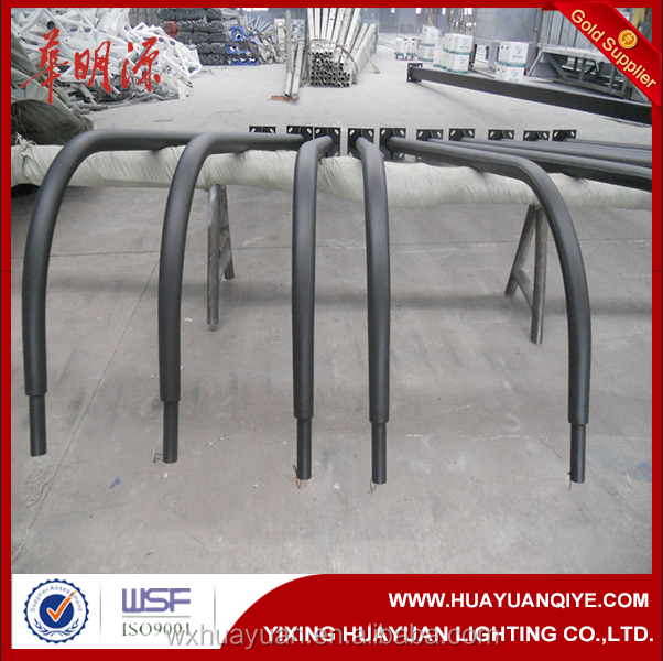 Different round shape steel road lamp pole