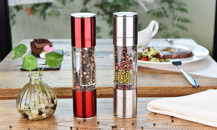 Most popular Mini Extra long 2 in 1 Salt and Pepper Mills