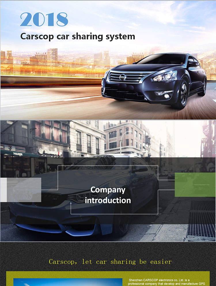 Full solution for car rental company gps car sharing technology