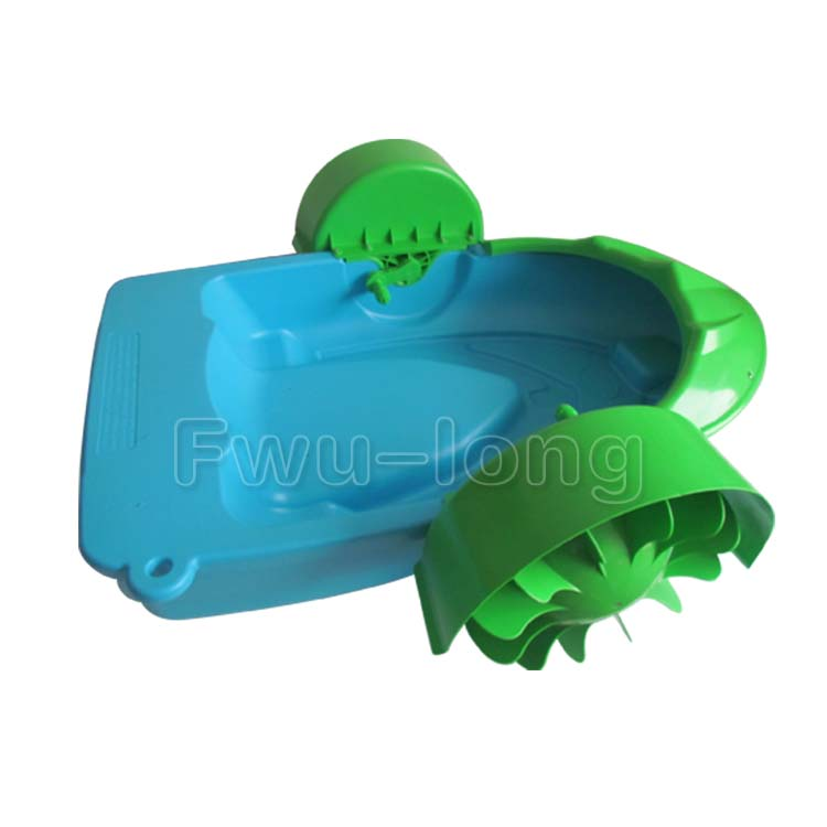 CE TUV Amusement Park Adult Aqua Pool Toy Wheel Kids Hand Rowing Water Plastic Paddle Boat For Sale