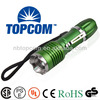 10W aluminum alloy cree led power style tactical zoom flashlight green color TP-1805A