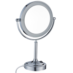 2011D LVYI New round magnifying desktop makeup LED light mirror
