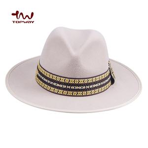 ed9dd54e8c444 Hot Sale China Suppliers Winter Wool Fedora Hat Ribbon Felt Pattern With  Custom Color