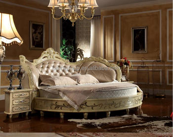 Luxury Wooden Carving Round Bed For Villa Hotel Buy Round