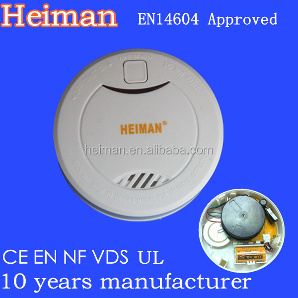 EN14604, VDS, NF approved 10 years lithium battery operated photoelectric stand alone smoke detector lifebox city