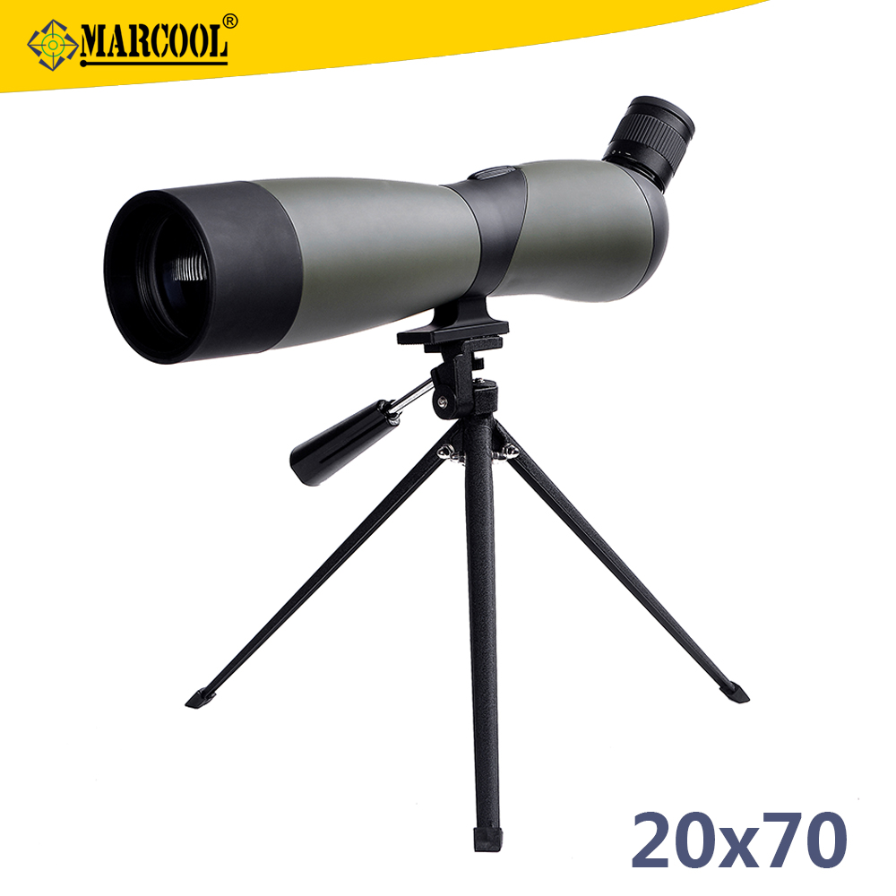 Outdoor Hunting And Spotting Scope 20-60x60 BAK4 Prism Waterproof Zoom Telescope With Tripod, Monocular Scopes