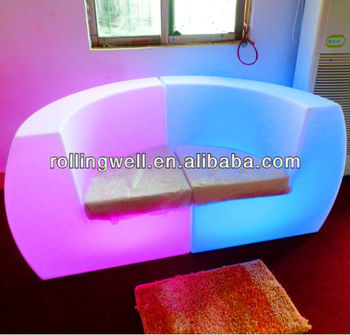 Color change outdoor furnitures led sofa led sofa for Change furniture color
