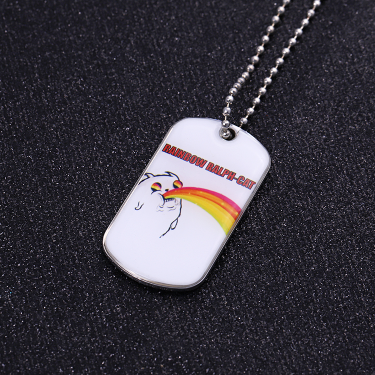 High quality stainless steel custom metal blank dog tag/dogtag